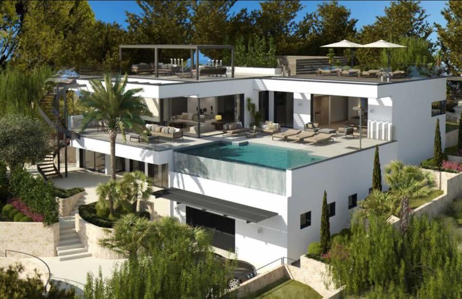 Stylishly Modern Luxury Villa With Stunning Sea Views Close To Puerto Portals