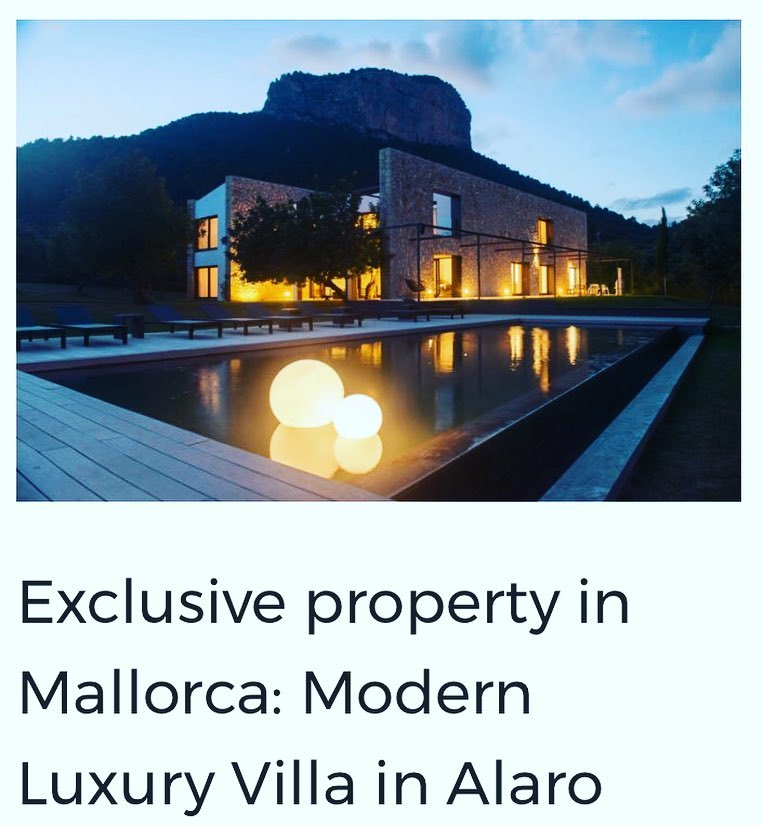 Exclusive property in Mallorca Modern Luxury Villa in Alaro hellip